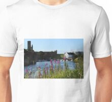 St Andrews Harbour and Pink Flowers Unisex T-Shirt