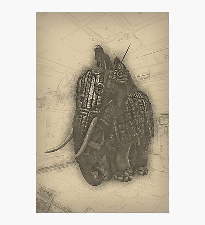 Armoured Elephant Photographic Print