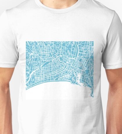 Nice Map - Baby Blue Unisex T-Shirt