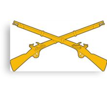 Infantry Crossed Rifles Canvas Print