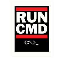 Run CMD - Run DMC Art Print
