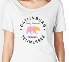 GATLINBURG TENNESSEE SMOKY MOUNTAINS ORIGINAL NATIONAL PARK BEAR Women's Relaxed Fit T-Shirt