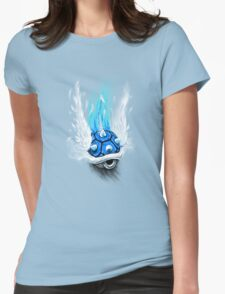 Blue Shell Attack Womens Fitted T-Shirt