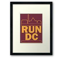Redskins - Run DC - Run DMC Framed Print