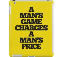 TRUE DETECTIVE MAN'S GAME iPad Case/Skin