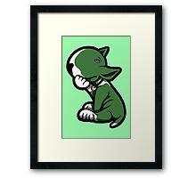 Bull Terrier Green  Framed Print