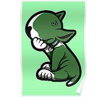 Bull Terrier Green  Poster