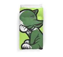 Bull Terrier Green  Duvet Cover