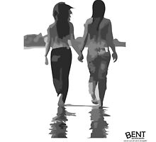Lesbians in love holding hands by Bent Sentiments  by bentsentiments