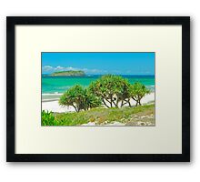 Cook Island View Framed Print