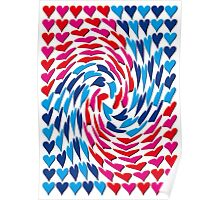 Love Hearts Abstract Multi Twist 1 Poster