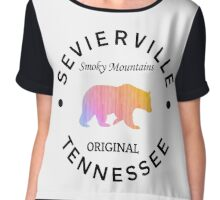 SEVIERVILLE TENNESSEE SMOKY MOUNTAINS ORIGINAL NATIONAL PARK BEAR Chiffon Top