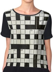 Crossword Chiffon Top