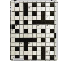 Crossword iPad Case/Skin