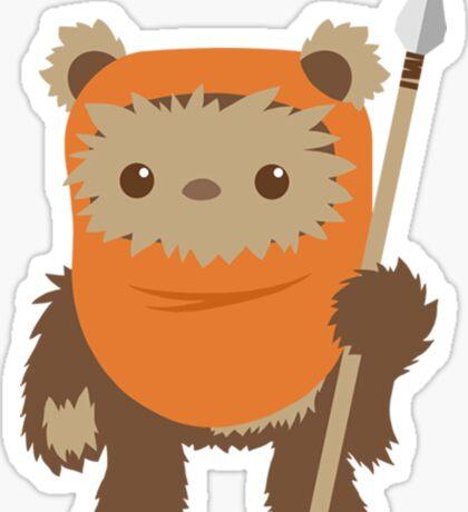 Cartoon Ewok Sticker