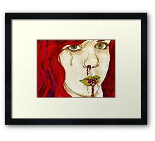 the iridologist told her to try ladybirds Framed Print