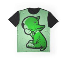 1 Beer Too Many Bull Terrier Green Graphic T-Shirt