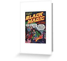 Black Magic Comic Greeting Card