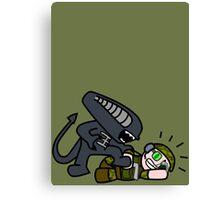 Alien vs. Marine 2 Canvas Print