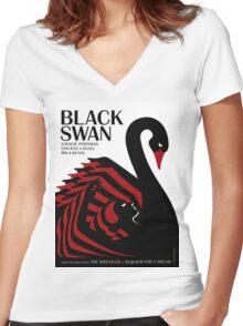 Black Swan Women's Fitted V-Neck T-Shirt
