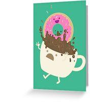 Dunkin Donut Greeting Card
