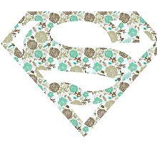 Floral Superman logo by TrinketFox