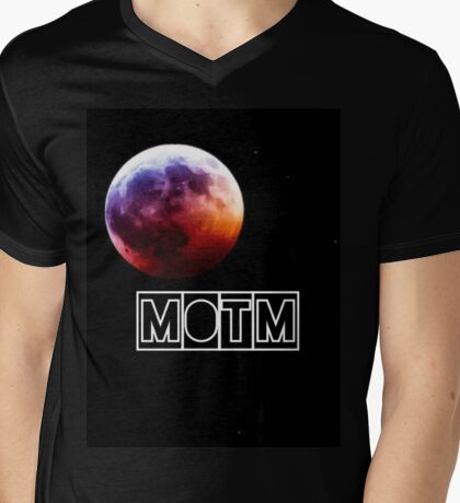 Man On The Moon Mens V-Neck T-Shirt