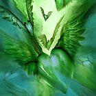 Flight Of The Heart - Green by Carol  Cavalaris