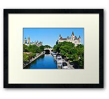 Ottawa Postcard Framed Print
