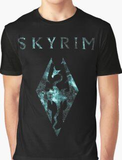 Skyrim Minimalist Nebula Design Graphic T-Shirt