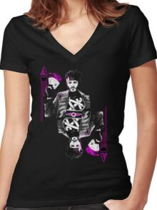 Ace of Hearts Women's Fitted V-Neck T-Shirt