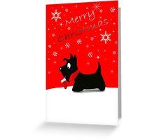Scottie Dog 'Merry Christmas' Greeting Card
