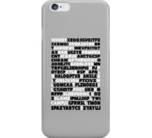 Bastille crossword. iPhone Case/Skin