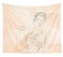 Brendon Urie (Line Art) Wall Tapestry