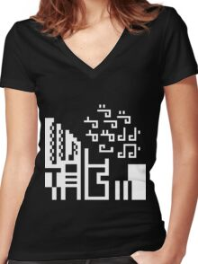 Lady Gaga Women's Fitted V-Neck T-Shirt
