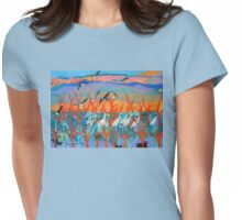 Nine Leaves in the Wind Womens Fitted T-Shirt