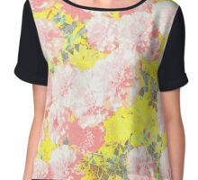 Mary Pink Pops Chiffon Top