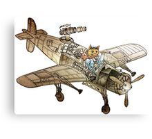 Flying Cat Canvas Print