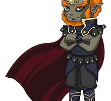 Legend of Zelda - Ganondorf sticker by littlebearart