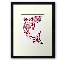 Great White Bite! Framed Print