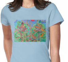 Two Trees and Fig Leaves in the Garden of Desire Womens Fitted T-Shirt