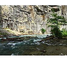 Cliffs and river Photographic Print