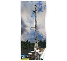 Bill Reid's Totem Pole in Skidigate Haida Gwaii Poster