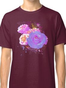 Wild Colorful Roses Classic T-Shirt