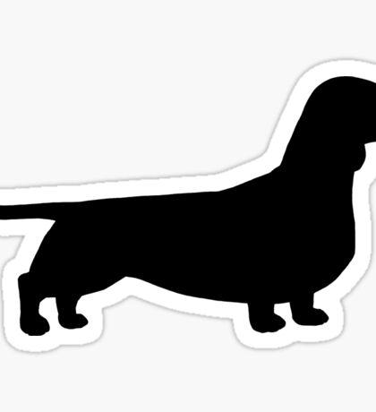 Dachshund Silhouette(s) Sticker