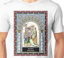 ST SOPHIA under STAINED GLASS Unisex T-Shirt