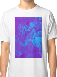 Within my heart a flame of desires, colorful abstract painting with fantasy girls. Classic T-Shirt