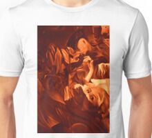 Within my heart a flame of desires, colorful abstract painting with fantasy girls. Unisex T-Shirt