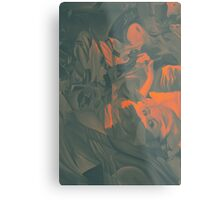Within my heart a flame of desires, colorful abstract painting with fantasy girls. Metal Print