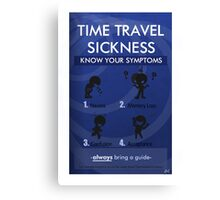 Time Travel Sickness Canvas Print